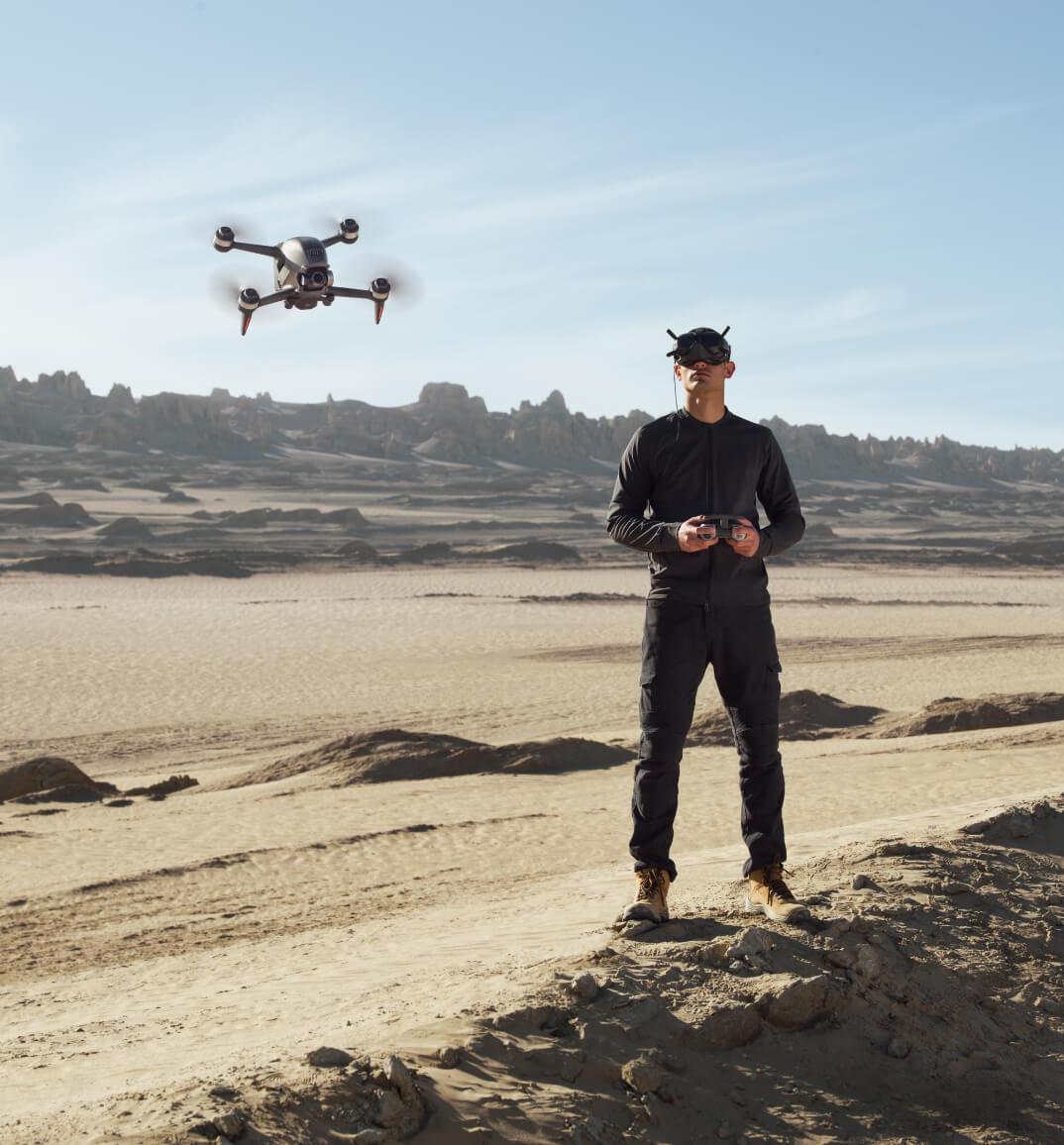 funkcja awaryjnego hamowania w dronie DJI FPV